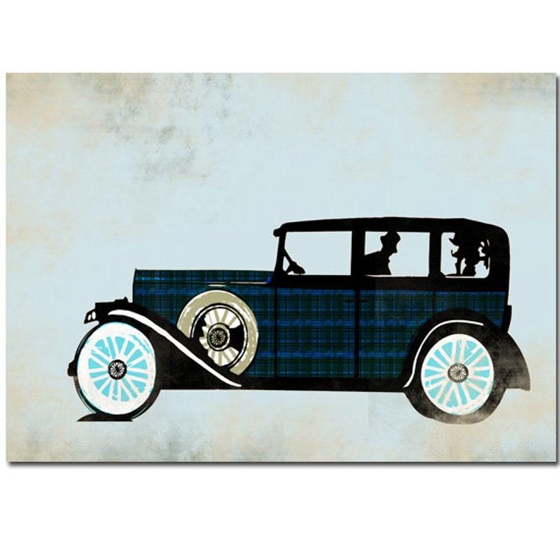 The Rolls Royce Car Kids Art Prints Auto Vintage Car Rolls Royce Design Nursery Decorating Ideas Baby Nursery