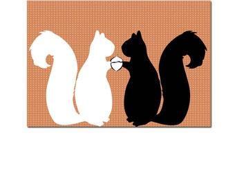 Two Squirrels -   squirrels, nursery decorating ideas, nursery squirrels