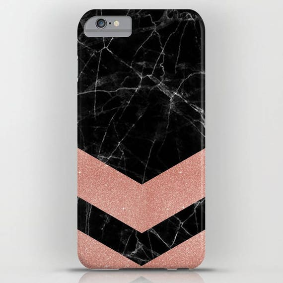 Samsung S9 iPhone X iPhone 8 Black Marble iPhone X Marble Rose Gold Black Marble with Rose Gold Pattern 2 on Phone Case