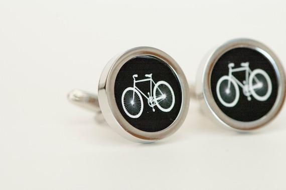 New Bicycle CufflinksMen/'s Novelty Bike Cufflinks