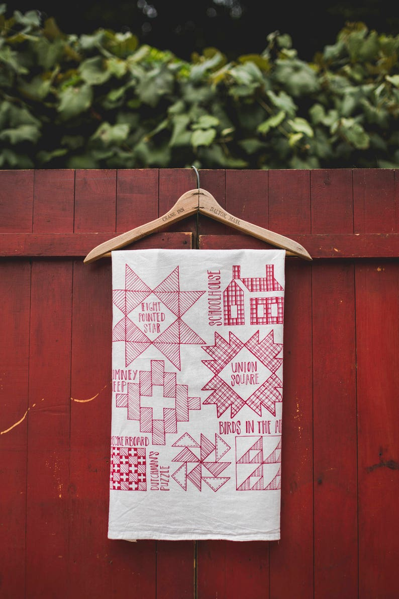 Quilt Pattern Primer Tea Towel Hostess Gift Housewarming image 0