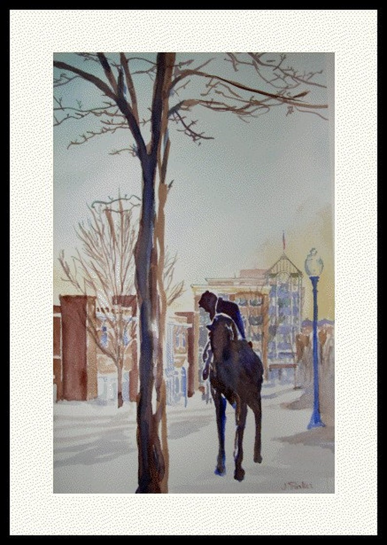 Sunday at Seven Decorative matted Print 16x20