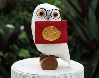 Hedwig Cake Topper and Ornament: Snowy Owl Cake Topper for a Harry Potter Party