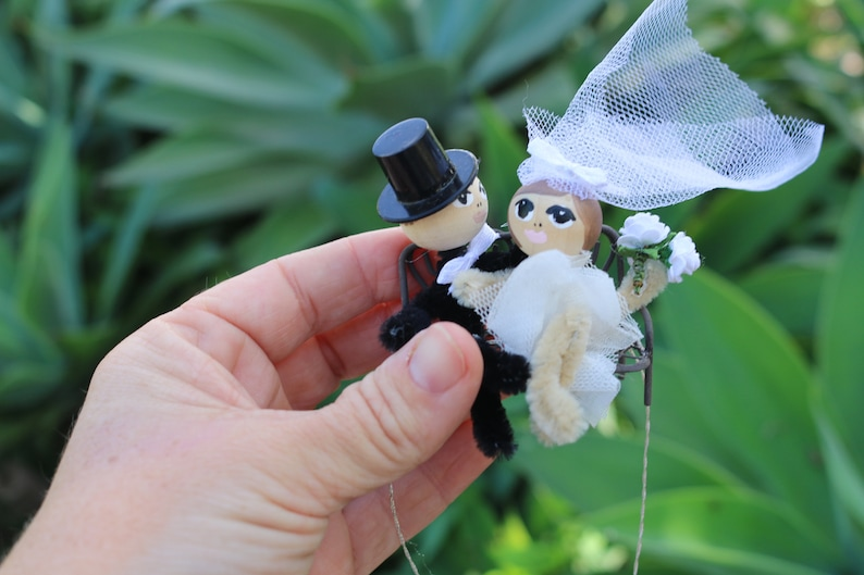 Custom Wedding Cake Topper Bride Groom Newlywed Ornament