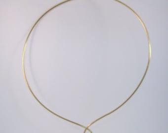 14K Gold Filled Wire Ring Collar or Slide Necklace  23 inch RKS483