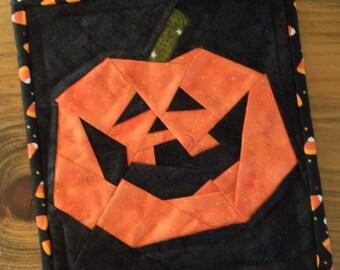 Jack o Lantern Mini Quilt