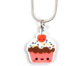 Kawaii Cupcake Sprinkles Necklace