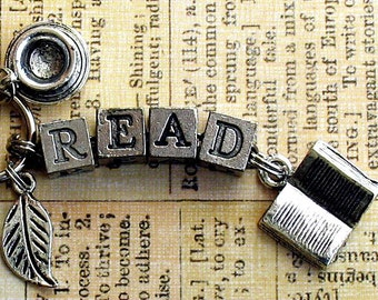 Read Book Lovers Key Ring Purse Charm Literary Bookish Jewelry Librarian Teacher Gift