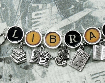 Librarian Bracelet Library Jewelry Book Charm Literary Librarian Gift