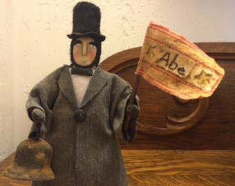 Primitive Abe Lincoln Doll
