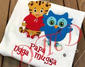 Daniel the Tiger and Owl Applique Shirt