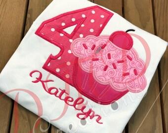 Cherry Cupcakes Birthday shirt