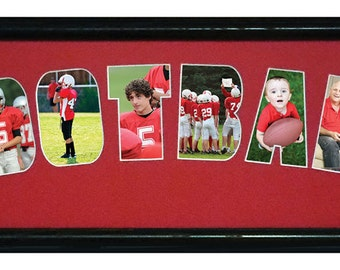 Football Personalized Photo Collage  8x26 (mat only)