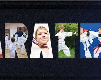 Karate Custom Photo Collage 8x26 (mat only)