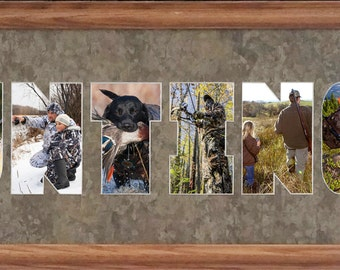 Hunting Photo Collage in 8 x 26 (mat only)