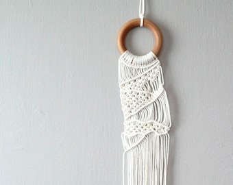 Bohemian Wall Art Macrame. Cotton Macrame Wall Hanging. Wall Decor for Bedroom or Office.