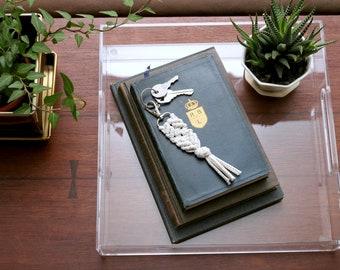 Macrame Key Chain Small. Bohemian Keychain. Girlfriend Gift. Sister Gift. Teacher Gift. Galentine Gift Under 20.