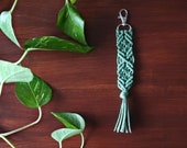 Macrame Key Chain Accessory. Bohemian Style. Girlfriend Gift. Bridesmaid Gift under 25.