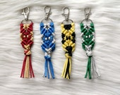 House Color Key Chain. Harry Potter Inspired Gift. Macrame Keychain. Friend Girlfriend Gift Under 20.