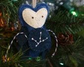 Zodiac Christmas Ornament. Owl Ornament Virgo Constellation. Gift for the Star Gazer. Astronomer Ornament.