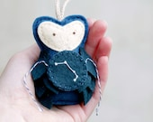 Zodiac Christmas Ornament. Owl Ornament ARIES Constellation. Gift for the Star Gazer. Astronomer Ornament.