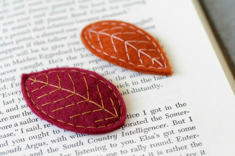Fall Leaf Clips. Autumn Hair Accessory. Leaf Barrette. image 0