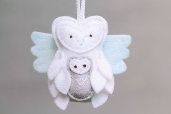 miscarriage ornament remembrance owl ornament with baby etsy