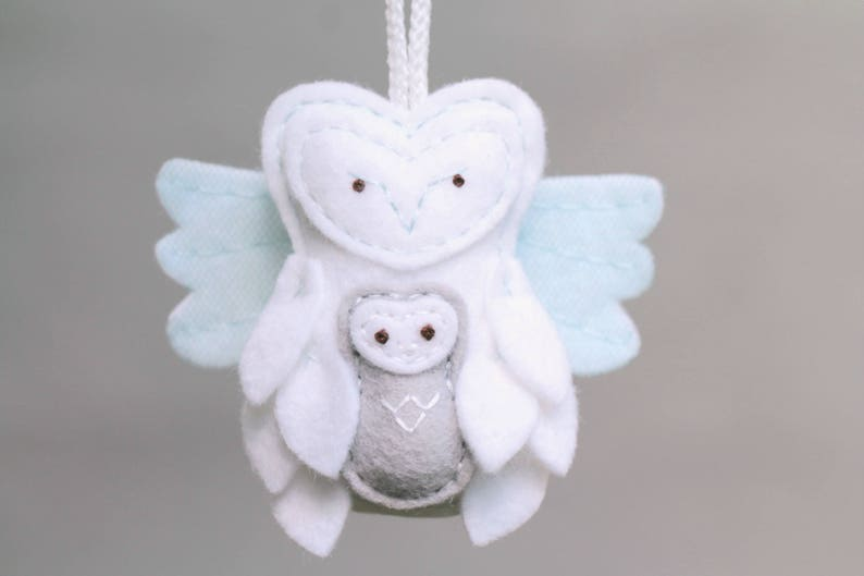 Miscarriage Ornament Remembrance. Owl Ornament with Baby. image 0