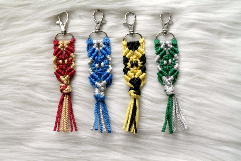 House Color Key Chain. Harry Potter Inspired Gift. Macrame image 0