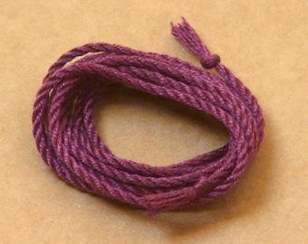 Grape Purple handmade silk cord (1mm) – 1 yard/1 metre