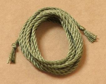 Sage Green handmade silk cord (1mm) – 1 yard/1 metre