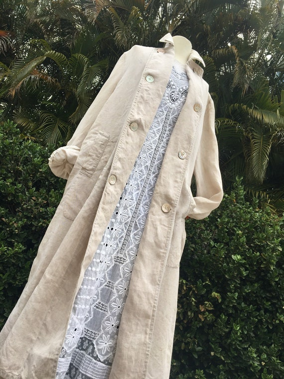 Unisex Brokaw Bros New York Edwardian duster coat,