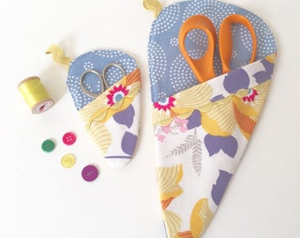Scissor Sleeve - Monarch Floral and Eclipse Dots