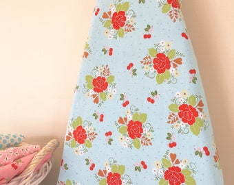 Ironing Board Cover - Red Roses on Aqua