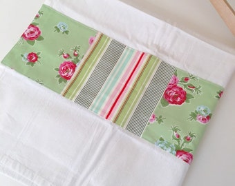 Kitchen Towel in Patchwork - Floral and Stripes