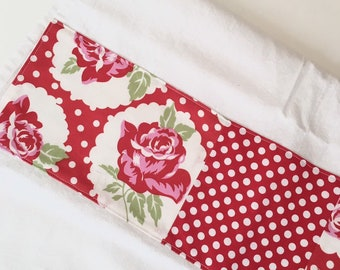 Kitchen Towel in Patchwork - Red Roses and Polka Dots
