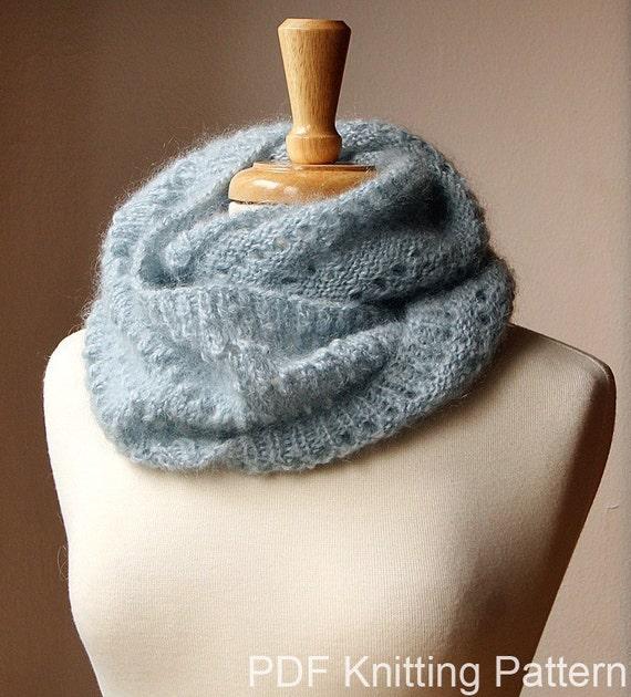 Infinity Scarf Knitting Pattern Fall Winter Fashion Snood Etsy