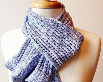 Lace Scarf Knitting Pattern by Designer Elena Rosenberg, Instant Electronic Download, Lightweight, Wrap, Romantic, Gift for Knitter, Elegant