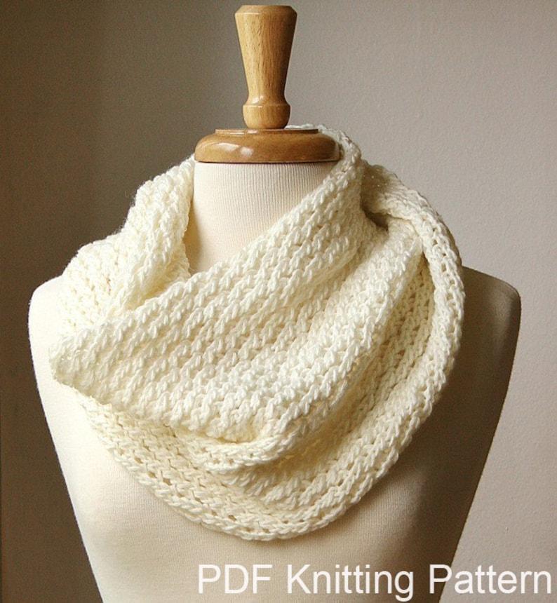 Knitting Pattern Chunky Cowl Knitting Pattern Scarf Diy Etsy