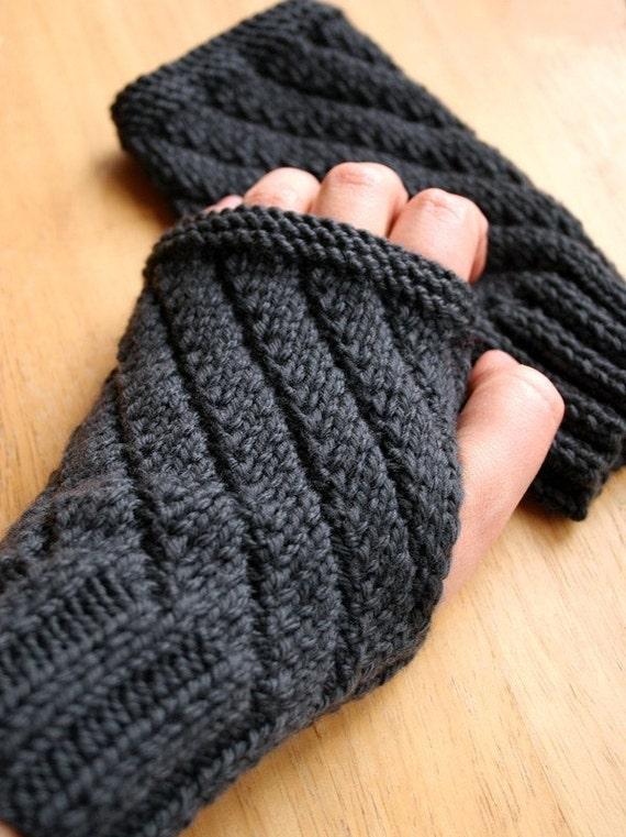 Knitting Pattern Fingerless Gloves Mitts Gauntlets Etsy