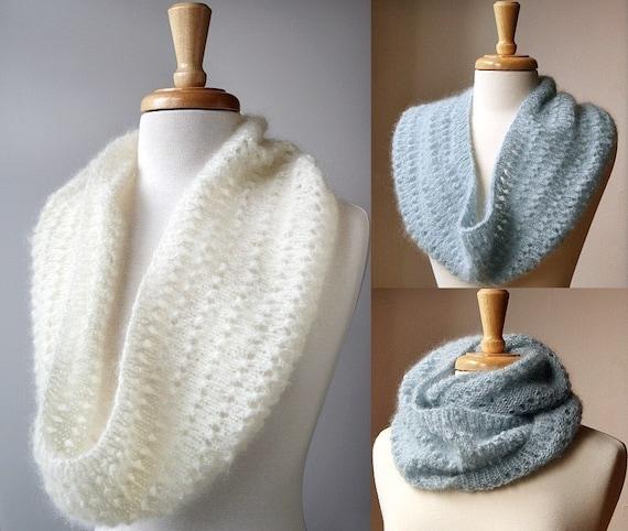 Snood Knitting Pattern Genevieve Cowl Neckwarmer Scarf Etsy