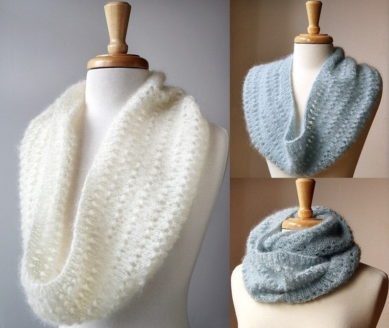 Snood Knitting Pattern Genevieve Cowl Neckwarmer Scarf Etsy