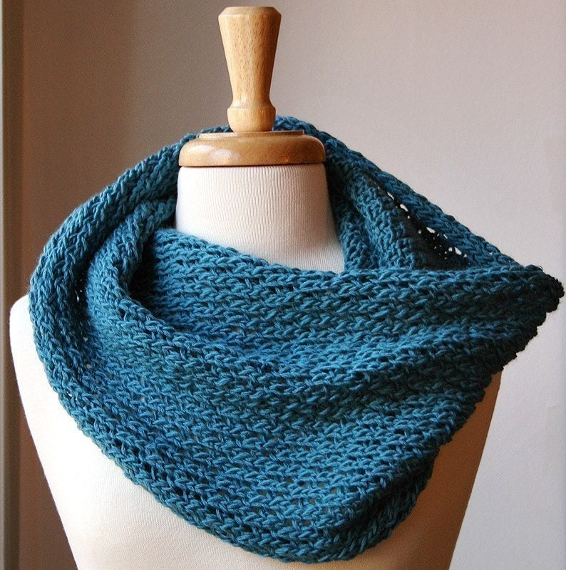 Infinity Scarf Knitting Pattern Bridget Cowl Snood Scarf Etsy