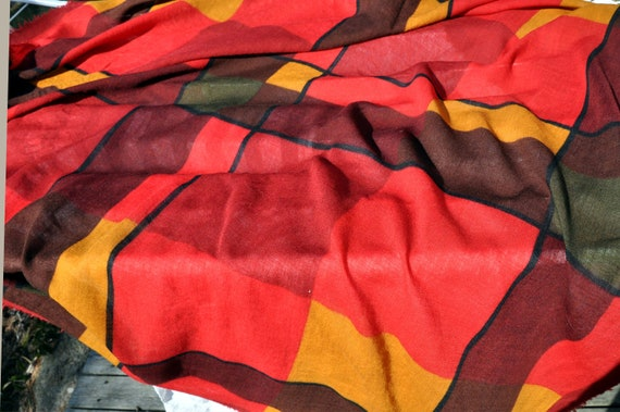 Marimekko vintage wool scarf - huge - unique, Mar… - image 1