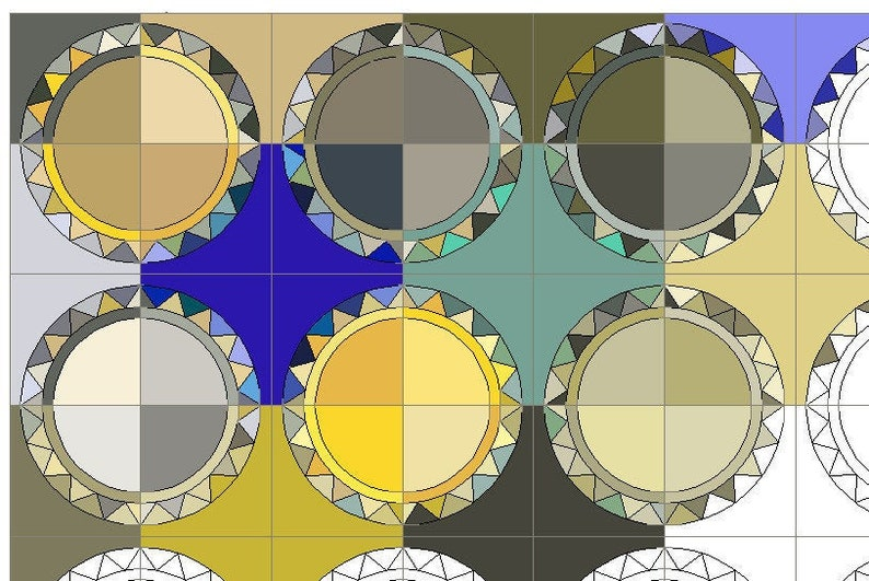 printable 6 block Foundation paper piecing pattern. 12 ring Ringstar