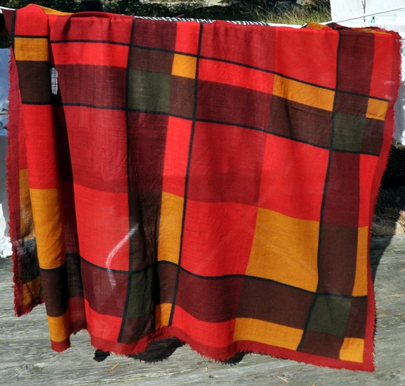 Marimekko vintage wool scarf - huge - unique, Mar… - image 2