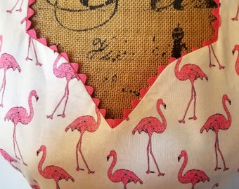 Reversible Pink Flamingos with Sundial Design Matching Fabric Full Length Sweetheart Style and Adult Plus Size