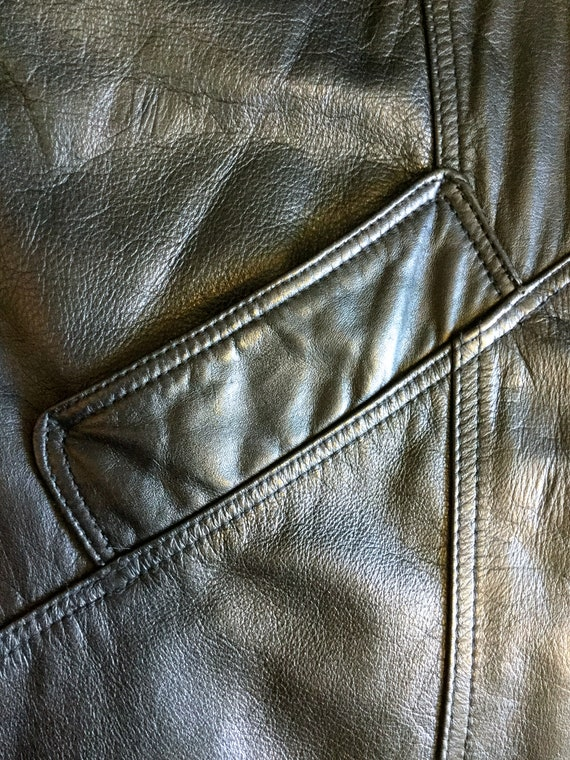 1980's Leather Trench Coat, Savage Trench Coat - image 7