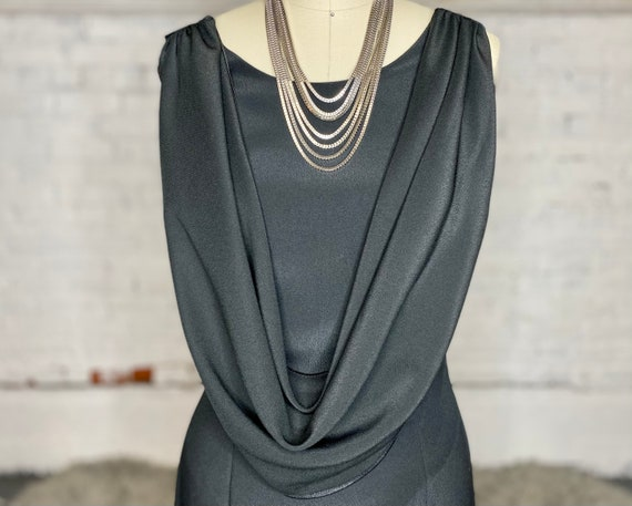 Vintage Draped Evening Gown