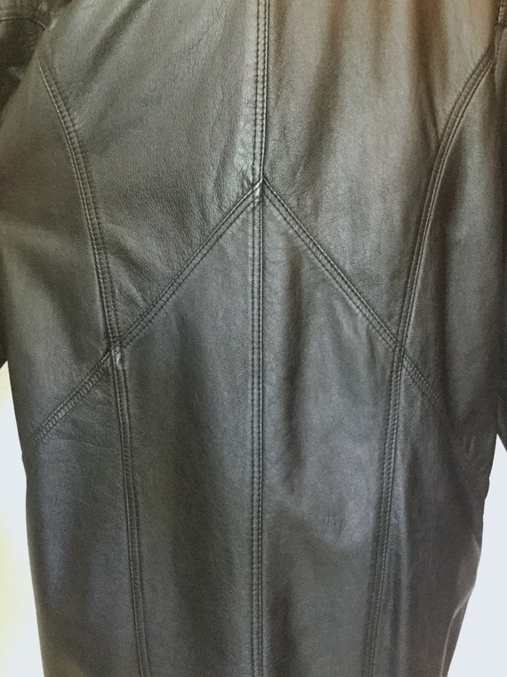 1980's Leather Trench Coat, Savage Trench Coat - image 8